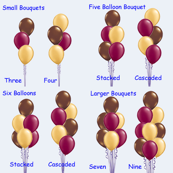 Decorating Services - How Many Balloons Should I Have in a Bouquet